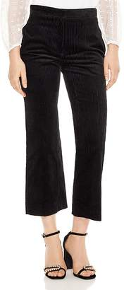 Sandro Divine Cropped Flared Corduroy Pants