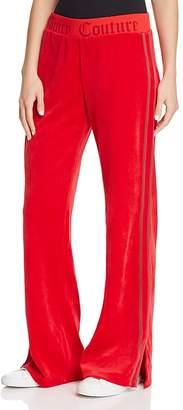 Juicy Couture Black Label Logo Flare Velour Pants - 100% Exclusive