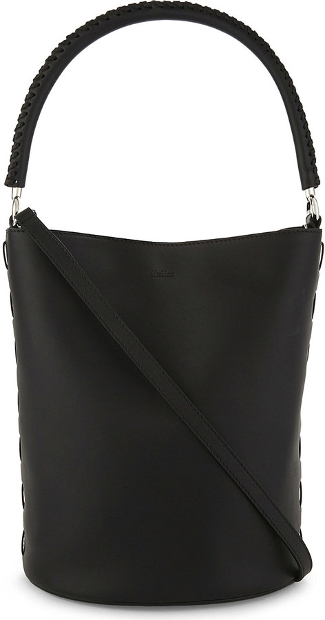 Max Mara Max Mara BoBag calf leather bucket bag