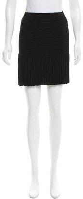 Sandro Rib Knit Mini Skirt $65 thestylecure.com