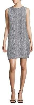 Oscar de la Renta Sleeveless Knit Shift Dress