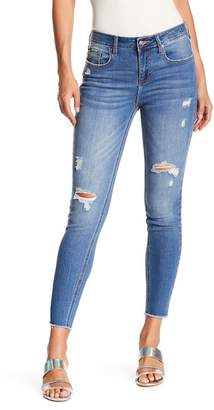 Vigoss Marley Mid Rise Super Skinny Distressed Jeans