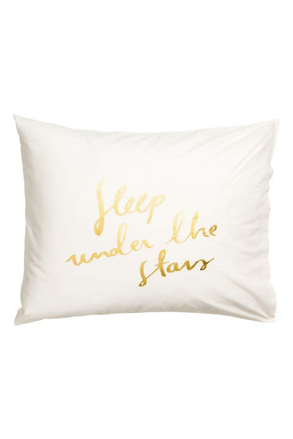 Pillowcase with Printed Text