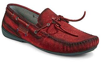 Bugatti Suede Driving Loafers