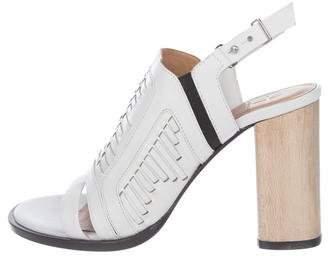 Thakoon Leather Peep-Tor Sandals