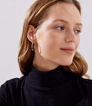 LOFT Rainbow Crystal Hoop Earrings