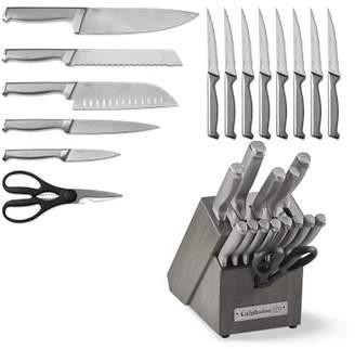 Calphalon Classic SharpIN Stainless-Steel 15-Piece Knife Set, Grey