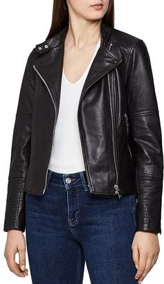 Reiss Tallis Leather Biker Jacket