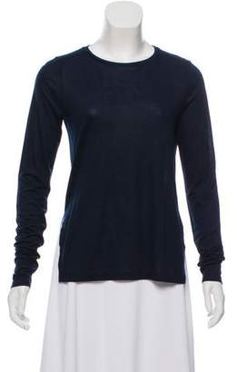J Brand Long Sleeve Scoop Neck Top