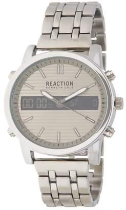 Kenneth Cole Reaction Men's Grey Ana-Digit Watch, 44MM