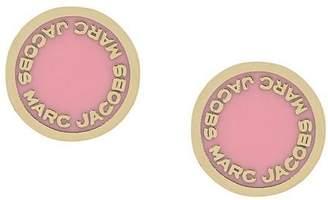 Marc Jacobs logo disc earrings