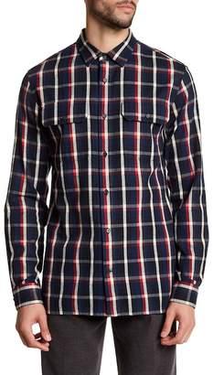 Vince Military Regular Fit Flannel Shirt