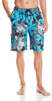 Kanu Surf Men's Quick Dry Floral Beach Board Shorts Swim Trunk