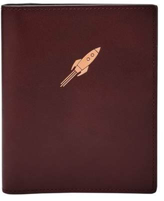 Fossil Rocket Ship Rfid Passport Case Accessories Black Cherry