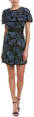 Nicole Miller Women's Lace Ruffle Dress