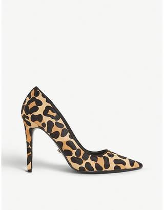 Dune Amaretti leopard-print suede courts