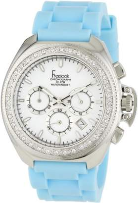 Freelook Women's 'Aquamarina III' Quartz Stainless Steel and Silicone Casual Watch