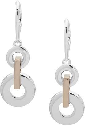 Lauren Ralph Lauren Linked Double Loop Drop Earrings