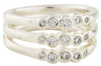 Ippolita Diamond Stardust Triple Band Ring