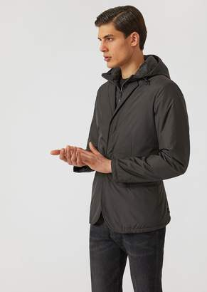 Emporio Armani Technical Fabric Padded Jacket With Hood