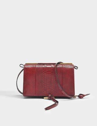 Stella McCartney Alter Snake Small Shoulder Bag in Burgundy Eco Fabric