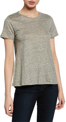 17a1155ff582a7 Neiman Marcus Majestic Paris for Crewneck Short-Sleeve Relaxed  Stretch-Linen Tee