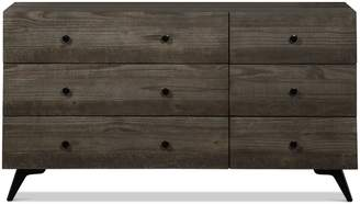 Apt2B Crockett 6 Drawer Dresser DARK PINE