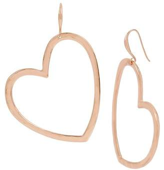 Robert Lee Morris Hammered Open Heart Gypsy Drop Earrings