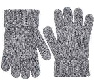 Tommy Hilfiger Boy's Cotton Cashmere Gloves (Mid Grey HTR 090), Medium