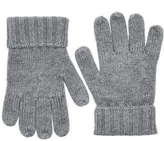 Tommy Hilfiger Boy's Cotton Cashmere Gloves (Mid Grey HTR 090), Large