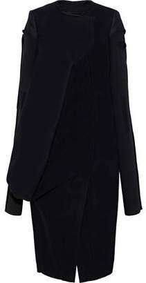 Rick Owens Knit-Paneled Wool Coat
