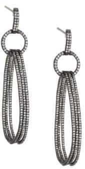 Nina Gilin Diamond Linked Hoop Drop Earrings