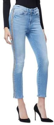 Good American Good Legs Crop Side Chains   Blue166