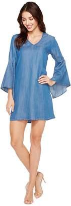 Karen Kane V-Neck Bell Sleeve Dress Women's Dress
