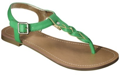 Merona Women's Erin Braided Upper Sandal - Green