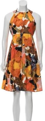 Barneys New York Barney's New York Brush Stroke Knee-Length Dress