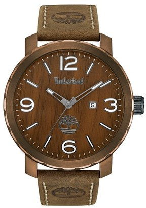 Timberland 'Pinkerton' Leather Strap Watch, 50Mm $139 thestylecure.com