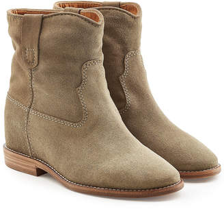 Isabel Marant Suede Ankle Boots with Concealed Wedge