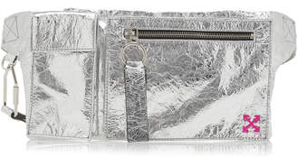 Off-White Off White C/O Virgil Abloh Froisse' Sporty Laminated Leather Fanny Pack