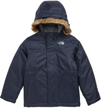 The North Face Greenland Waterproof 550-Fill-Power Down Jacket with Faux Fur Trim