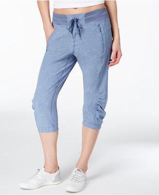 Calvin Klein Performance Commuter Active Ruched Capri Pants $69 thestylecure.com