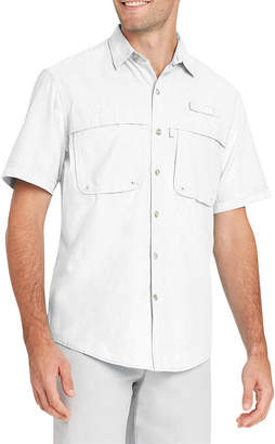 Izod Short Sleeve Button-Front Shirt