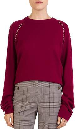 The Kooples Ring-Trim Crewneck Sweater