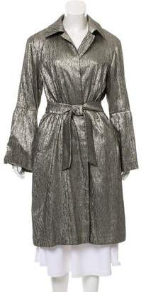 Dries Van Noten Metallic Long-Sleeve Jacket