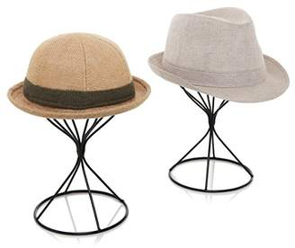 MyGift Modern Metal Hat Stands