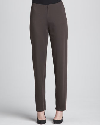 Eileen Fisher Heavyweight Rayon Slim Pants, Petite