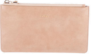Max Mara MaxMara Embossed Leather Pouch