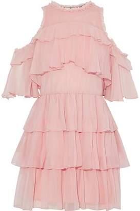 Alice + Olivia Ruffled Silk-Georgette Mini Dress