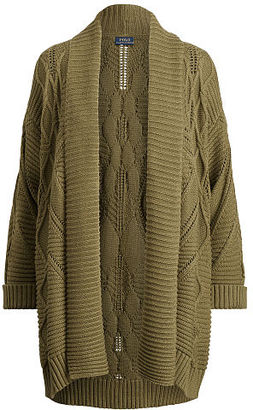 Polo Ralph Lauren Aran-Knit Cotton Cardigan $225 thestylecure.com