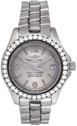 Breitling Colt Ocean A77350 Stainless Steel Quartz 1.92 Ct Diamond Bezel 36mm Watch